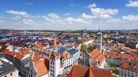 Orizzonte del centro urbano di Monaco di Baviera Fotografia Stock Libera da Diritti