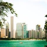 Orizzonte del Chicago fotografia stock