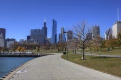 Orizzonte del Chicago Fotografie Stock