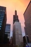 Orizzonte del Chicago, Illinois Immagini Stock Libere da Diritti