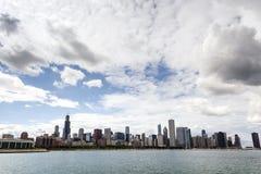 Orizzonte del Chicago, Illinois Immagine Stock Libera da Diritti