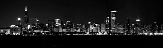Orizzonte del Chicago, Illinois Fotografia Stock Libera da Diritti