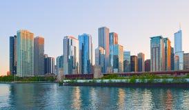 Orizzonte del Chicago Illinois Immagini Stock Libere da Diritti