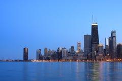 Orizzonte del Chicago osservato dal Nord Immagine Stock Libera da Diritti