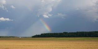 Orizzonte del cielo dello sbarco di estate Fotografia Stock
