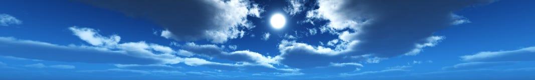 Orizzonte del cielo di panorama, nuvole, fotografia stock