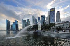 Orizzonte del distretto aziendale di Singapore Immagine Stock