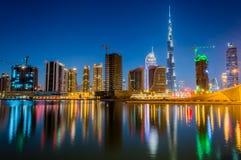 Orizzonte del Dubai Immagine Stock