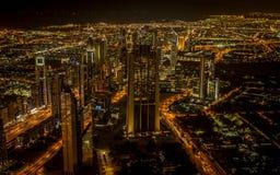 Orizzonte del Dubai del centro Fotografia Stock