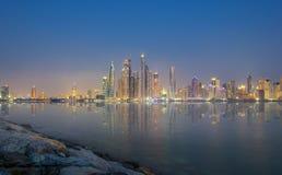 Orizzonte del Dubai del jbr Fotografia Stock Libera da Diritti