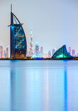 Orizzonte del Dubai, UAE Immagine Stock Libera da Diritti