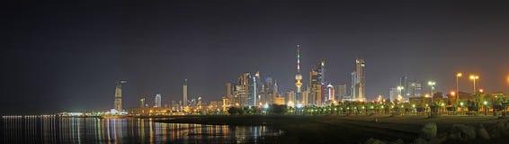 Orizzonte del Kuwait Fotografia Stock