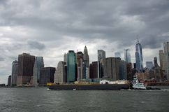 Orizzonte del Lower Manhattan immagine stock