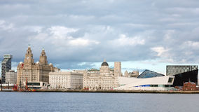 Orizzonte del patrimonio mondiale della città di Liverpool Fotografia Stock