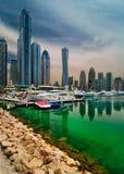 Orizzonte del porticciolo del Dubai, Dubai, Emirati Arabi Uniti Immagine Stock Libera da Diritti