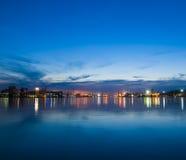 Orizzonte del porto marittimo Immagine Stock
