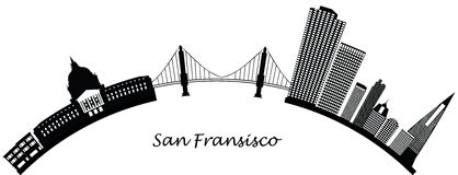 Orizzonte del San Fransisco Fotografia Stock