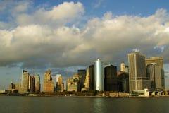 Orizzonte del sud di Manhattan Fotografie Stock Libere da Diritti