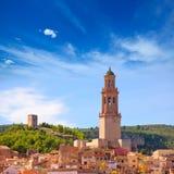 Orizzonte del villaggio di Jerica Castellon in Alto Palancia della Spagna Fotografia Stock