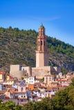 Orizzonte del villaggio di Jerica Castellon in Alto Palancia della Spagna Immagini Stock Libere da Diritti
