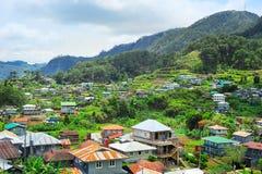 Orizzonte del villaggio di Sagada Immagine Stock