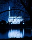 Orizzonte del Washington DC alla notte Immagini Stock Libere da Diritti