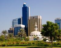 Orizzonte dell'Abu Dhabi Immagine Stock