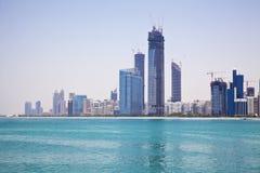 Orizzonte dell'Abu Dhabi, UAE Fotografie Stock Libere da Diritti