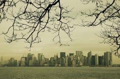 Orizzonte dell'annata di New York Fotografie Stock Libere da Diritti