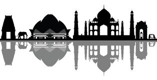 Orizzonte dell'India Nuova Delhi illustrazione di stock