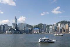 Orizzonte dell'isola di Hong Kong Immagini Stock