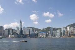 Orizzonte dell'isola di Hong Kong Fotografie Stock