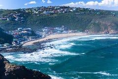 Orizzonte dell'oceano della linea costiera della baia di Herolds immagini stock