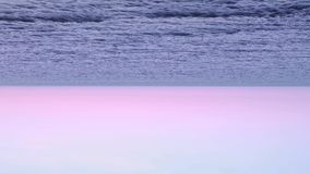 Orizzonte dell'oceano sottosopra stock footage