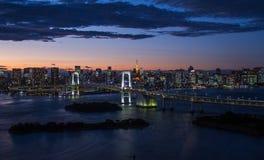 Orizzonte della baia di Tokyo Fotografia Stock Libera da Diritti