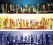 Orizzonte della città Fotografie Stock Libere da Diritti