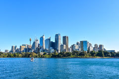 Orizzonte della città centro finanziario di Sydney, Australia Fotografie Stock Libere da Diritti