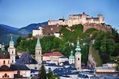 Orizzonte della città dell'Austria, Salisburgo Fotografia Stock Libera da Diritti