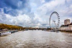Orizzonte della città dell'occhio di Londra - immagine di riserva Fotografia Stock Libera da Diritti