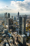 Orizzonte della città della Germania Francoforte Fotografia Stock