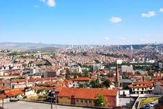 Orizzonte della città di Ankara Immagine Stock