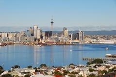 Orizzonte della città di Auckland fotografie stock
