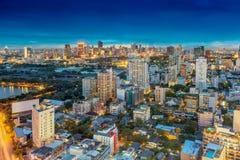 Orizzonte della città di Bangkok Immagine Stock Libera da Diritti