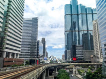 Orizzonte della città di Bangkok Immagini Stock