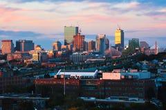Orizzonte della città di Boston fotografie stock libere da diritti