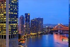 Orizzonte della città di Brisbane Immagini Stock Libere da Diritti