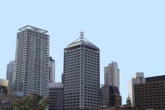 Orizzonte della città di Brisbane Immagine Stock