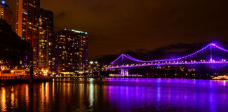 Orizzonte della città di Brisbane Immagine Stock Libera da Diritti