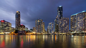 Orizzonte della città di Brisbane a penombra 3 Fotografie Stock