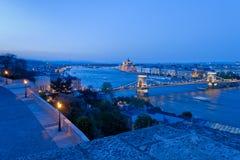Orizzonte della città di Budapest Fotografia Stock Libera da Diritti